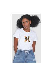 Camiseta Hurley Icon Floral Branca