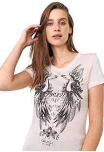 Camiseta Colcci Estampada Rosa