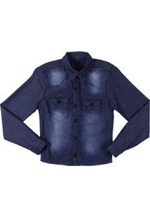 Camisa Manga Longa Infantil Gila'S - Masculino-Azul