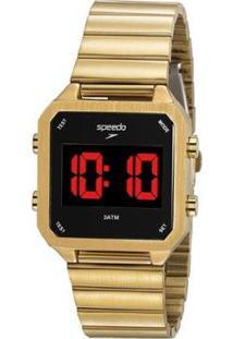 Relógio Speedo Digital Feminino - Feminino-Dourado