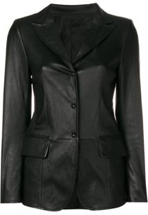 Sylvie Schimmel Lord Press Stud Fitted Jacket - Preto