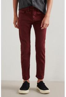 Calça Mini Pf Skinny Color Ver19 Reserva Infantil Masculino - Masculino-Bordô