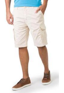 Bermuda Taco Flex Cargo Chino Masculino - Masculino-Off White