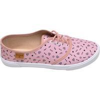 6e393fa493 Supimpa Calçados. Tênis Feminino Casual Vintage Moleca Rosa Estampado