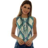 399b31a5c5 Regata Ficalinda Decote Canoa Feminina - Feminino-Bege+Azul