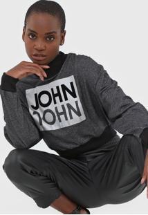 Camiseta John John Logo Grafite - Grafite - Feminino - Algodã£O - Dafiti