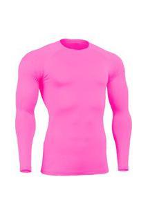 Camisa Bella Fiore Modas Térmica Poliamida Uv Segunda Pele Rosa