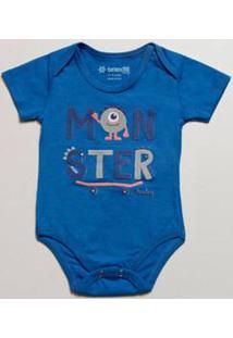 Body Infantil Bebê Estampa Frontal Manga Curta Brandili