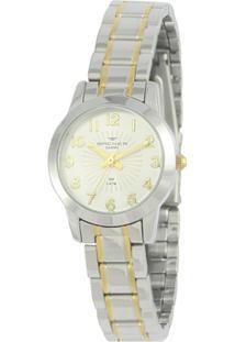 Relógio Feminino Backer Analógico 10258134F - Unissex-Prata