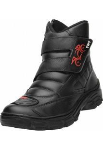 Bota Motociclista Th Velcro - Masculino
