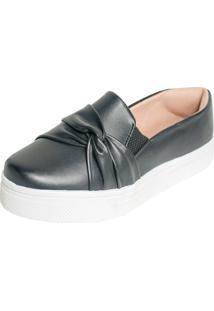 Tenis Hope Shoes Slipper Com Laço Cruzado Preto - Tricae