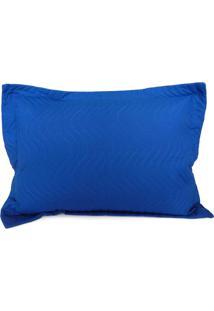 Porta Travesseiro Avulso Matelado - Juma - Azul