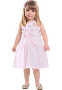 Vestido Infantil Pipoca Doce Rosa