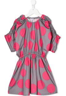 Piccola Ludo Vestido Com Poás - Rosa