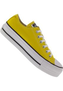 Tênis Converse All Star Chuck Taylor Plataforma - Feminino - Amarelo