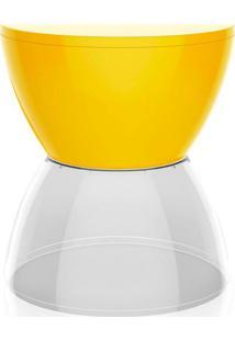 Banco   Banqueta Hydro Polipropileno Amarelo E Cristal I'M In