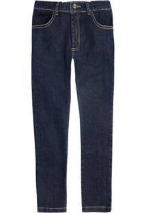 Calça Jeans Infantil Menino Skinny Com Lavação Escura Hering Kids