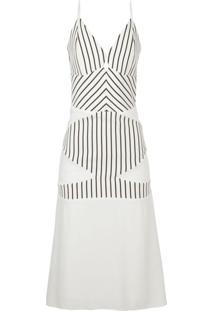 Vestido Mídi Triângulo - Off White