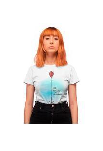 Camiseta Feminina Mirat Me Recuso A Afundar Branca