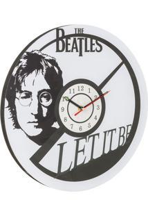 Relógio De Parede Beatles Branco