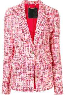 Philipp Plein Jaqueta Tweed - Vermelho