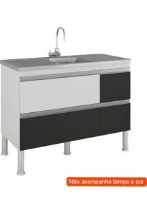 Balcão De Cozinha Prisma 1 Pt 3 Gv Branco E Preto