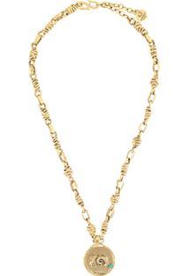 Goossens Talisman Aries Medal Necklace - Dourado