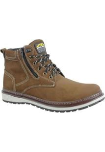 Bota Couro Zíper Lateral Bell Boots Masculino - Masculino-Marrom