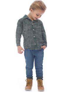 Camisa Up Baby Cinza