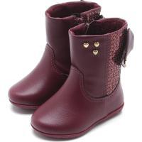 a0b513f48ddde1 Bota Para Menina Pampili Vinho infantil | Shoes4you
