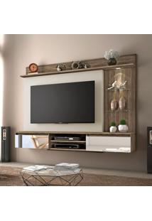 Painel Para Tv Até 60 Polegadas Bellagio Canela E Areia