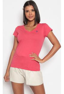Camiseta Lisa Bordada - Coralus Polo
