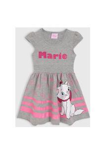 Vestido Tricae Infantil Marie Cinza