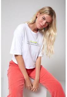 Camiseta Oh, Boy! Ice Breaker Neon Feminina - Feminino-Branco