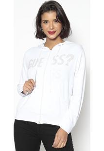 Jaqueta Com Termocolantes- Branca & Dourada- Guessguess