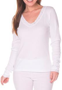 Camiseta Ribana Com Renda Bela Notte (990065)