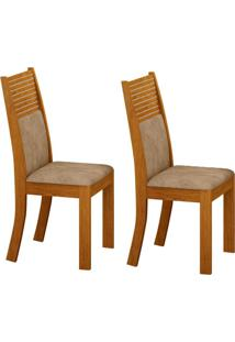 Conjunto Com 2 Cadeiras Havaí Imbuia E Cinza