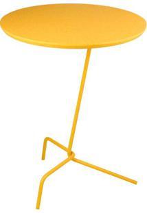 Mesa Apoio Babel Tampo Laqueado Amarelo 40 Cm (Larg) - 48844 Sun House