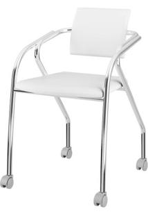 Cadeira 1713 Cromado Com Napa Branca - 27690 Sun House