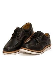 Sapato Moc Toe Couro Confort Boston Black Ranclafe Preto