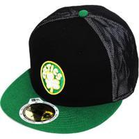 Boné New Era Aba Reta Fechado Nba Celtics Mesh Out - Unissex 6d69116136fc1