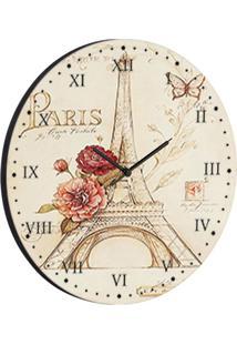 Relógio De Parede Paris Bege
