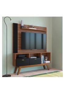 Estante Home Para Tv 50 Pol Estilare Music 2 Portas Preto