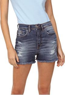 Short Jeans Aeropostale Destroyed Azul