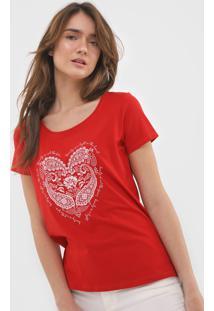 Camiseta Malwee Beauty Vermelha - Kanui
