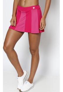 Short Saia Com Recortes - Pink & Rosafila
