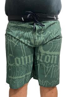 Bermuda Tactel Plus Size Masculino Elastano Chronic R/ 011 Verde
