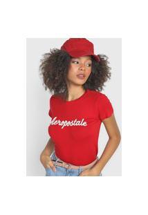 Camiseta Aeropostale Logo Vermelha