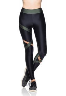 eb9df080e Legging Fitness Mulher Elástica Tule Assimétrico - Feminino