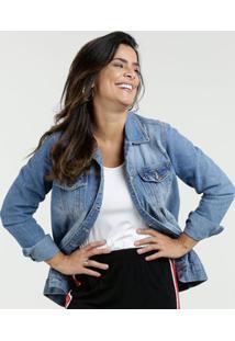Jaqueta Feminina Jeans Puídos Razon